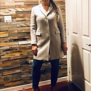 Theory Wool Coat Light Grey